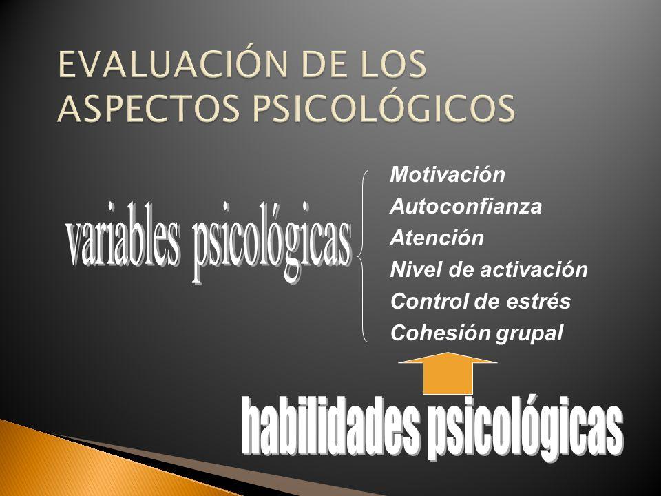 EVALUACIÓN DE LOS ASPECTOS PSICOLÓGICOS