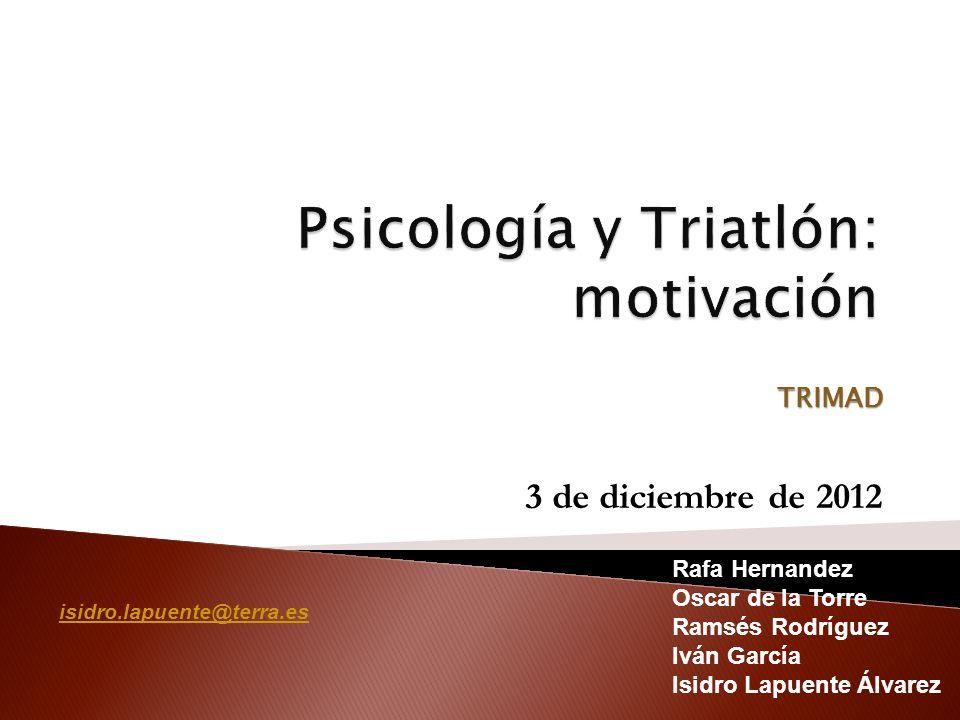 Psicología y Triatlón: motivación