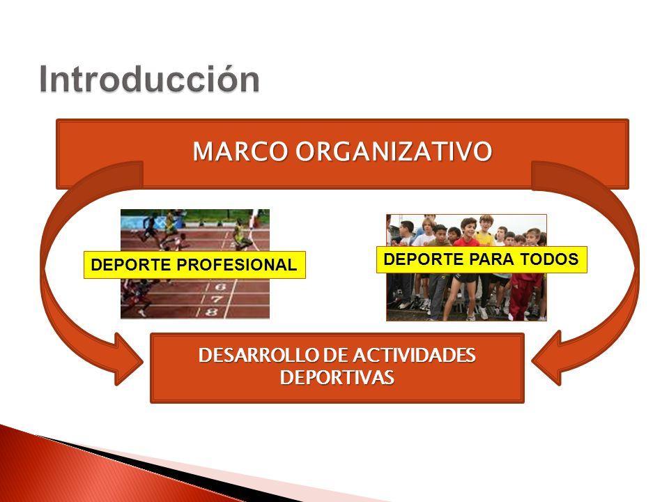 DESARROLLO DE ACTIVIDADES DEPORTIVAS