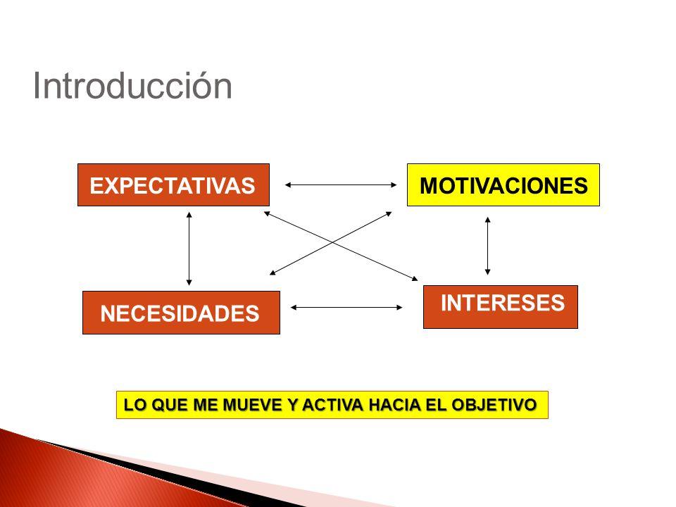 Introducción EXPECTATIVAS MOTIVACIONES INTERESES NECESIDADES