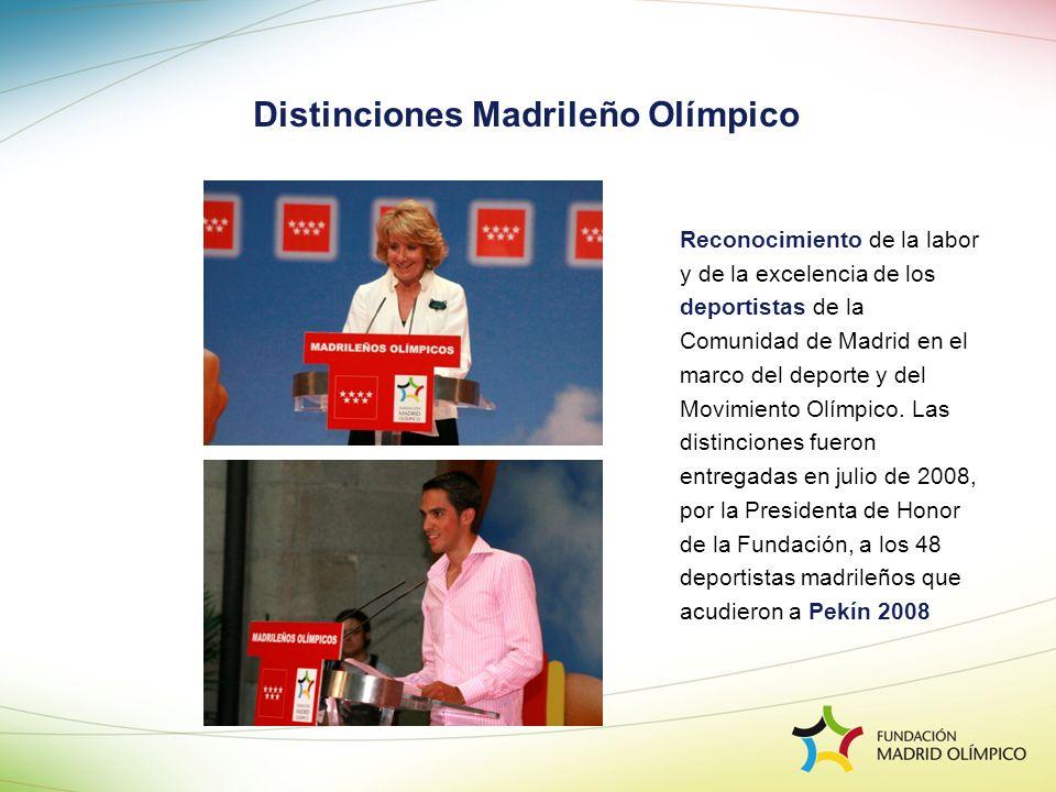 Distinciones Madrileño Olímpico