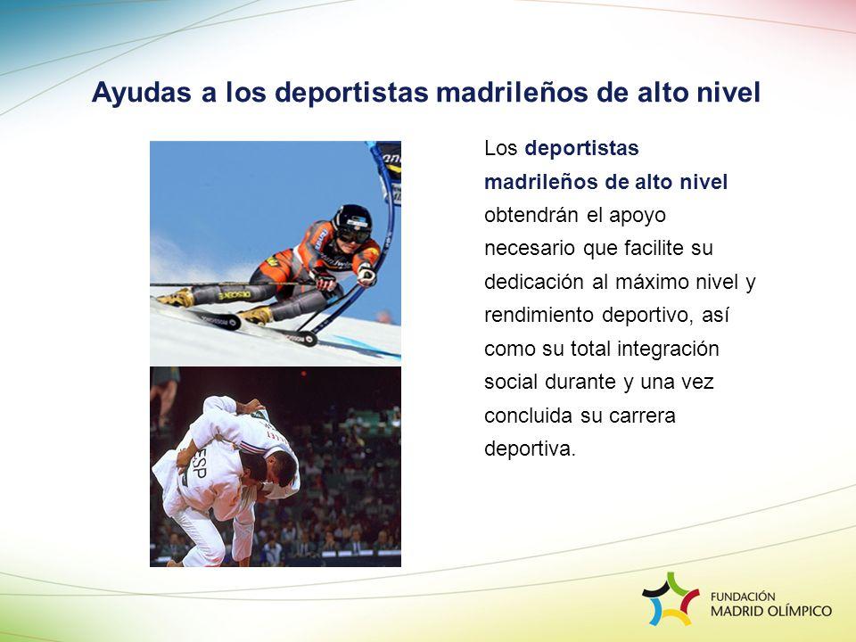 Ayudas a los deportistas madrileños de alto nivel