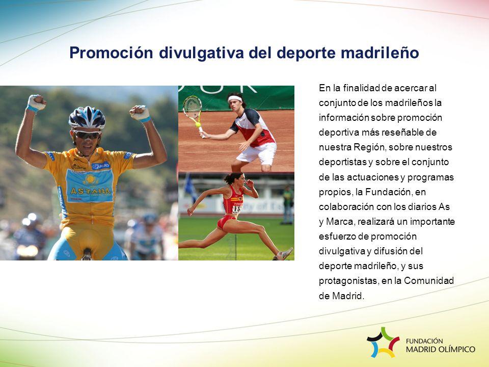 Promoción divulgativa del deporte madrileño