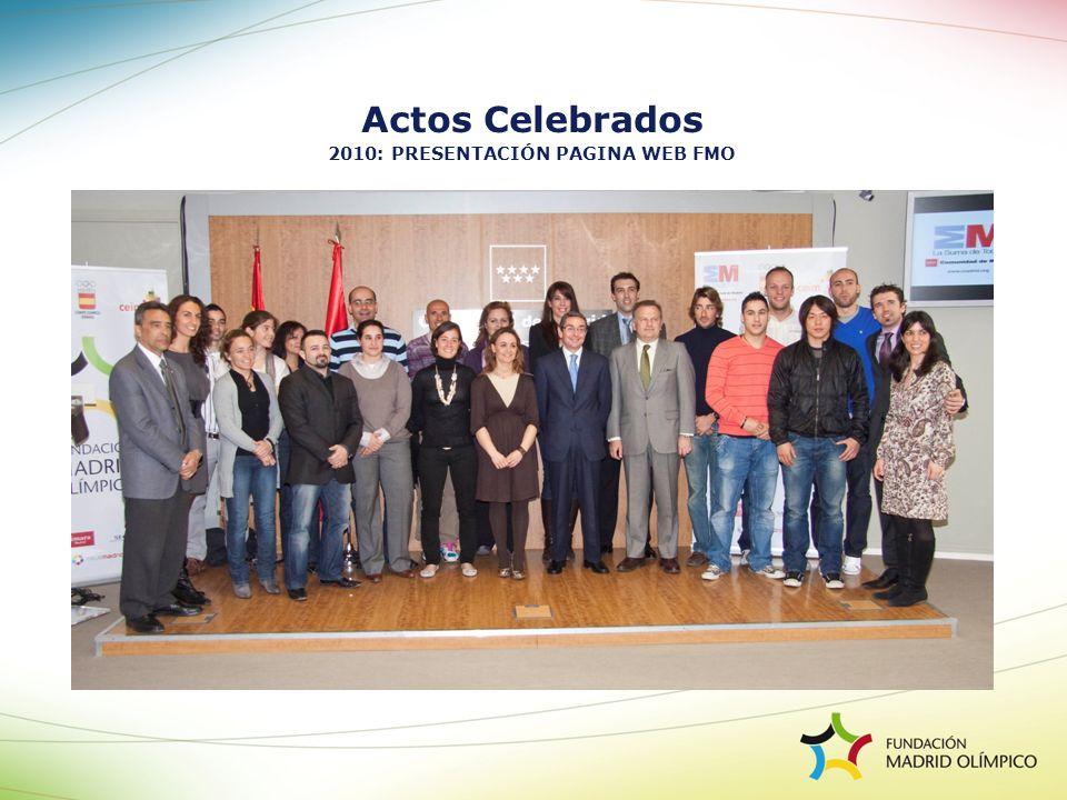 2010: PRESENTACIÓN PAGINA WEB FMO