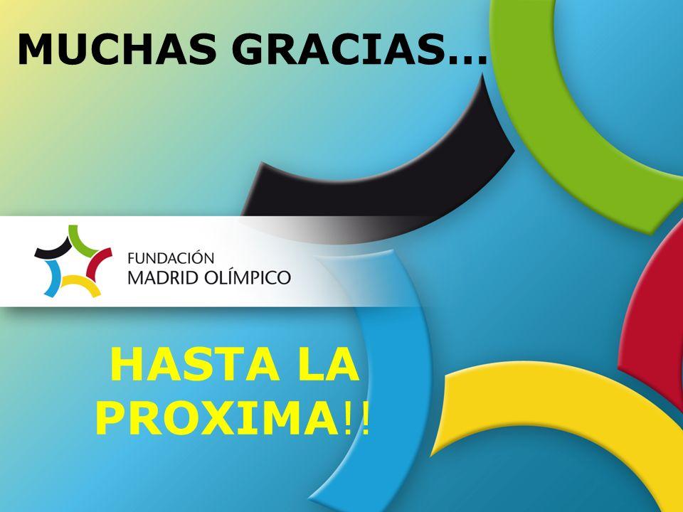 MUCHAS GRACIAS… HASTA LA PROXIMA!!