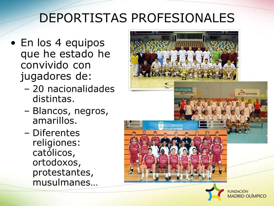DEPORTISTAS PROFESIONALES