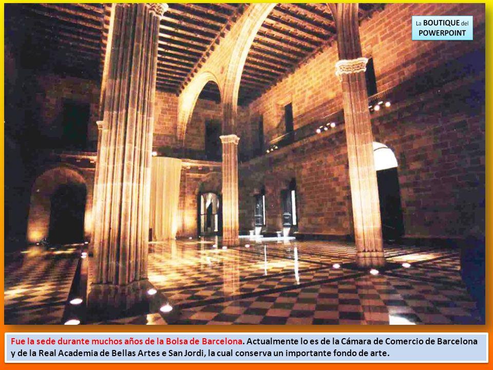 Fue la sede durante muchos años de la Bolsa de Barcelona