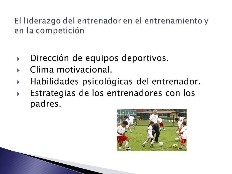 El liderazgo del entrenador en el entrenamiento y en la competición