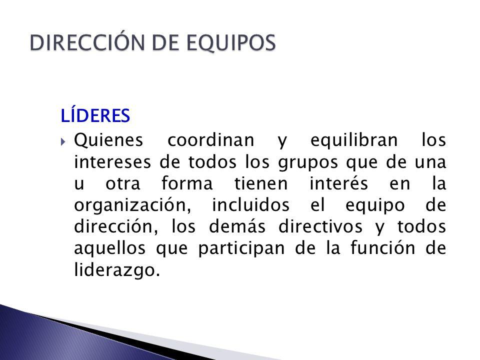 DIRECCIÓN DE EQUIPOS LÍDERES