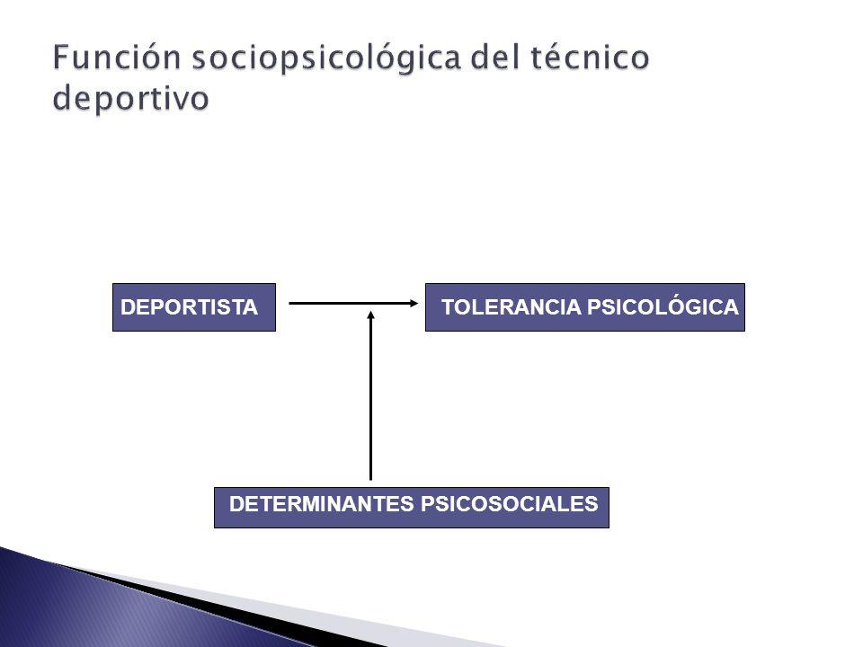 Función sociopsicológica del técnico deportivo