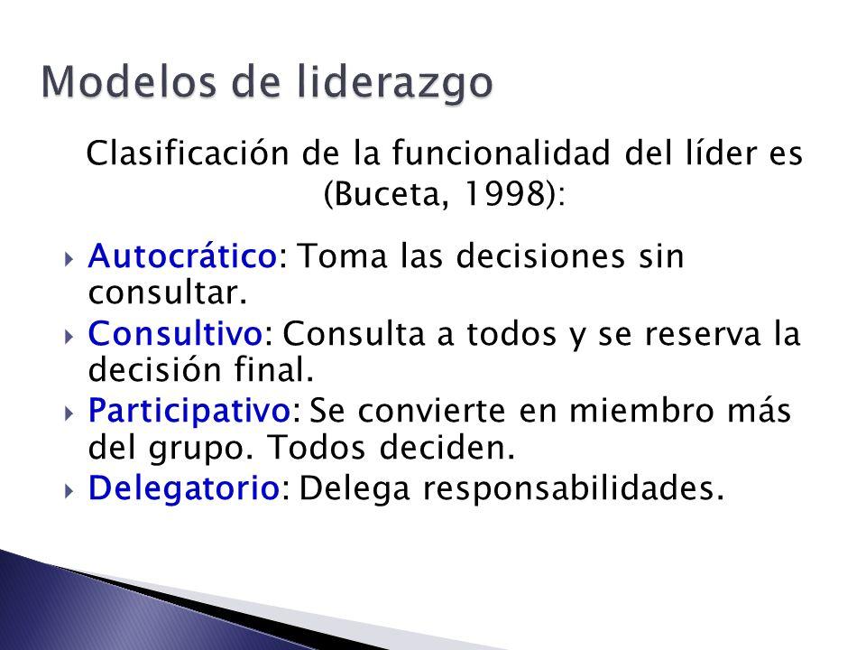 Clasificación de la funcionalidad del líder es