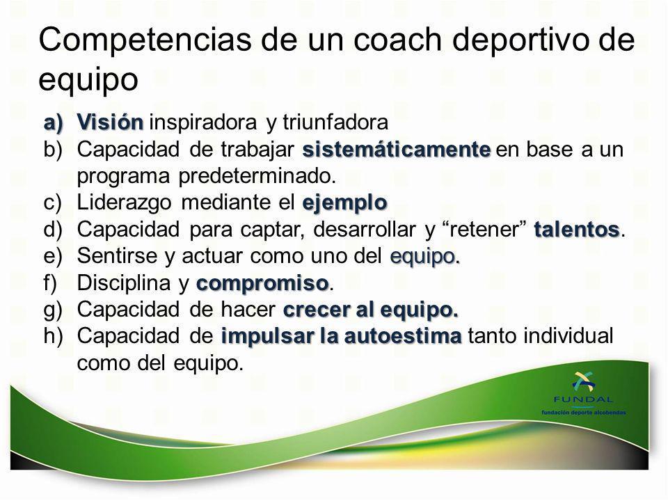 Competencias de un coach deportivo de equipo