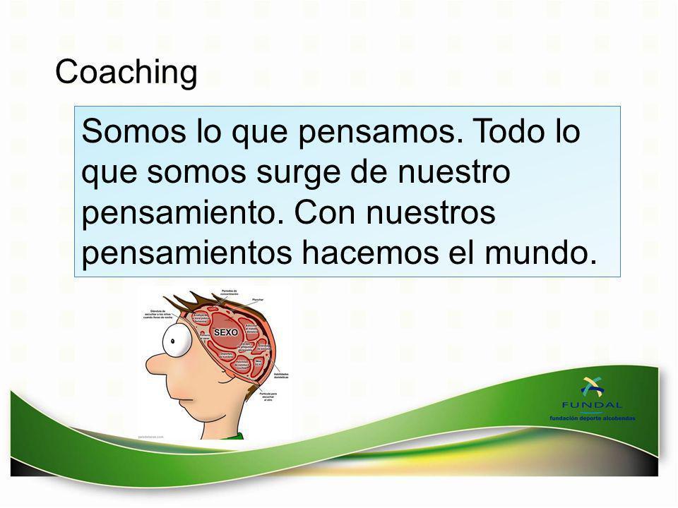 Coaching Somos lo que pensamos. Todo lo que somos surge de nuestro pensamiento.