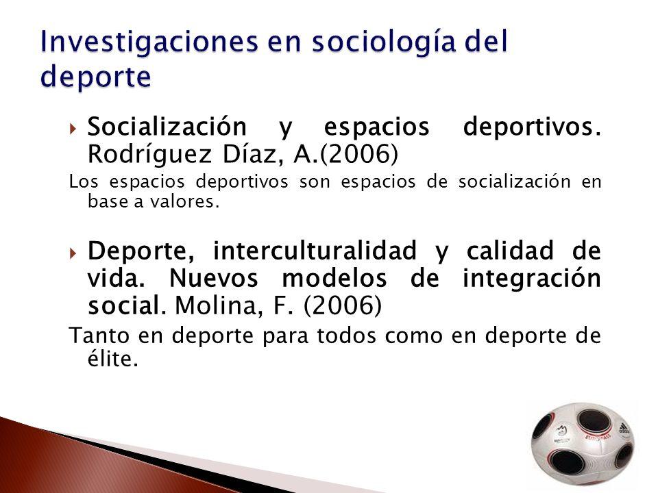 Investigaciones en sociología del deporte