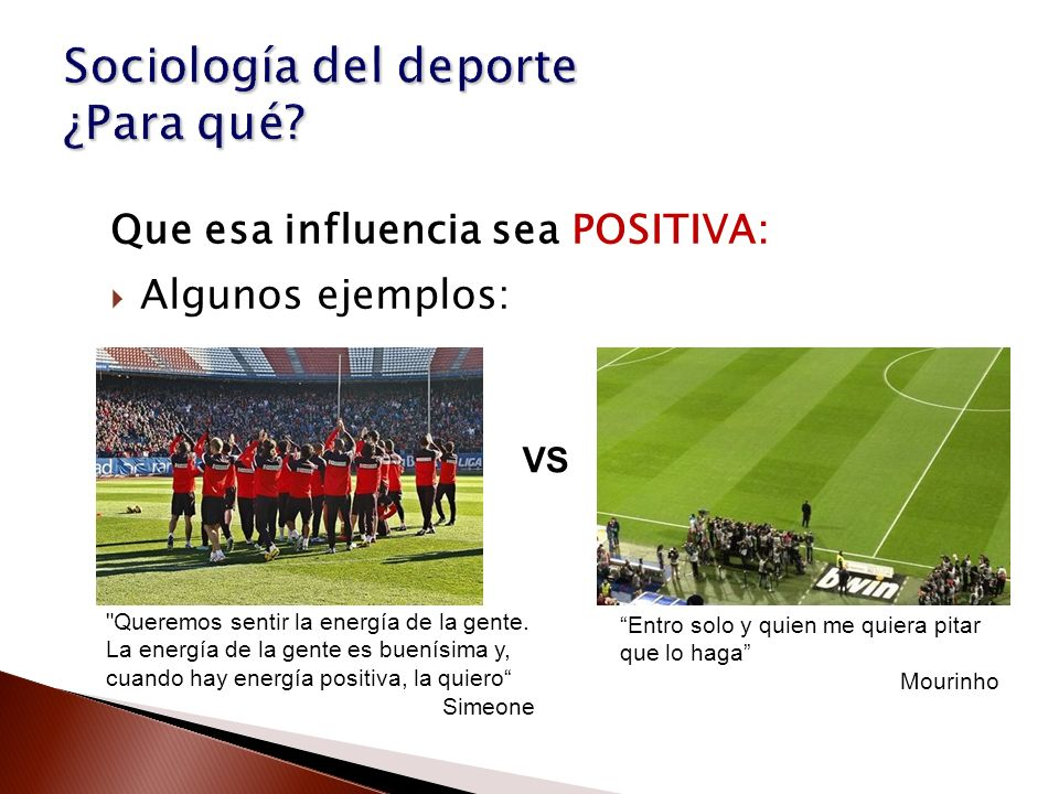 Sociología del deporte ¿Para qué