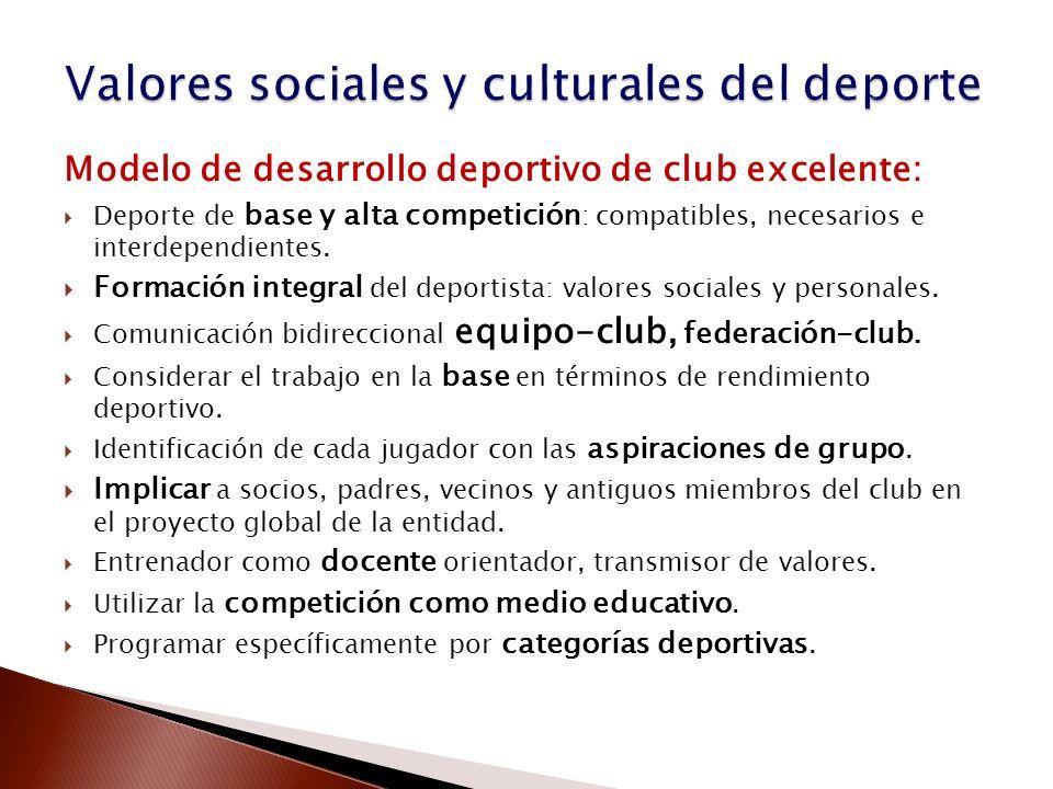Valores sociales y culturales del deporte