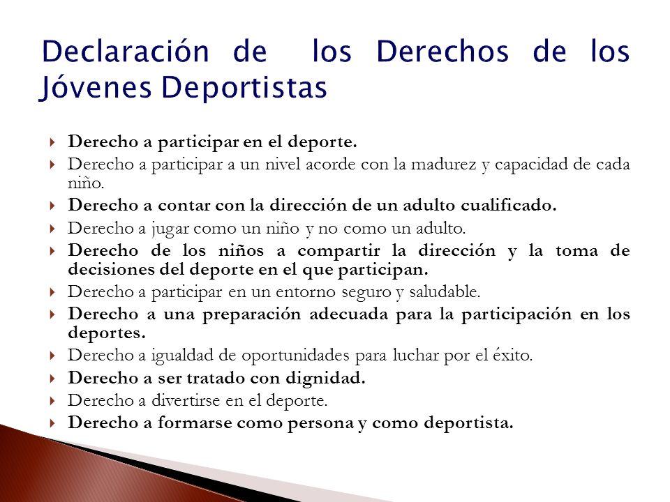 Declaración de los Derechos de los Jóvenes Deportistas