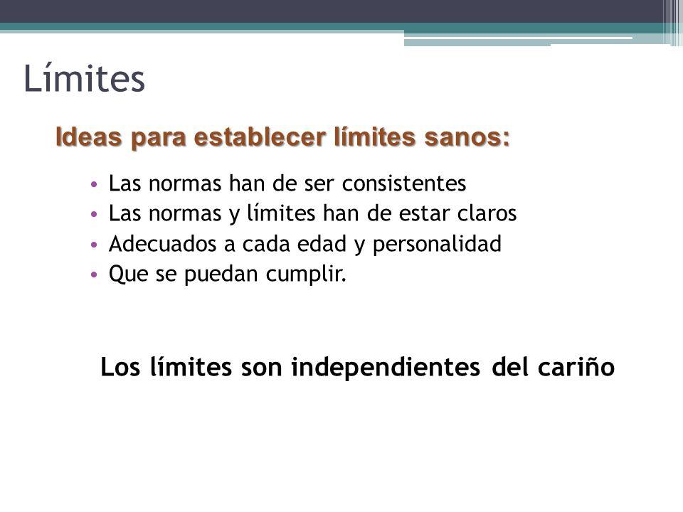 Los límites son independientes del cariño
