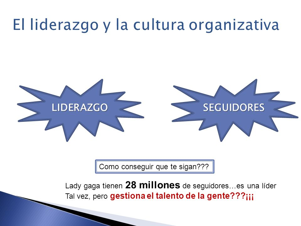 El liderazgo y la cultura organizativa
