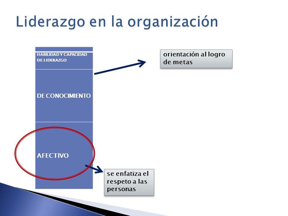 Liderazgo en la organización