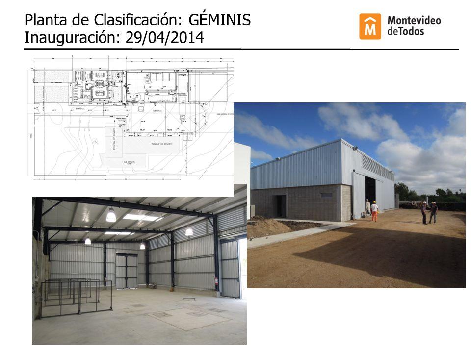 Planta de Clasificación: GÉMINIS