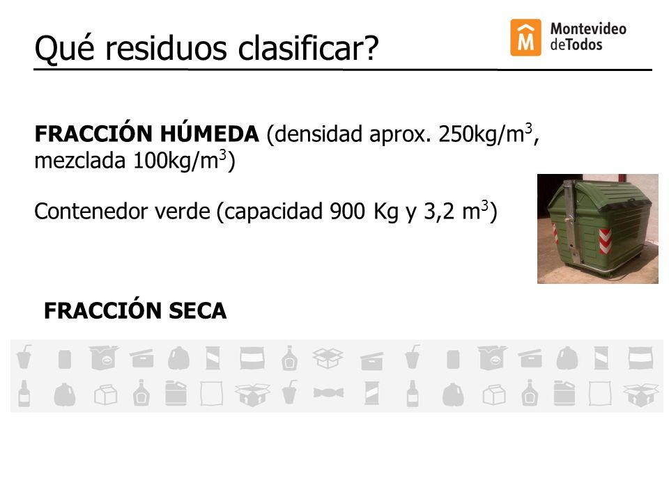 Qué residuos clasificar