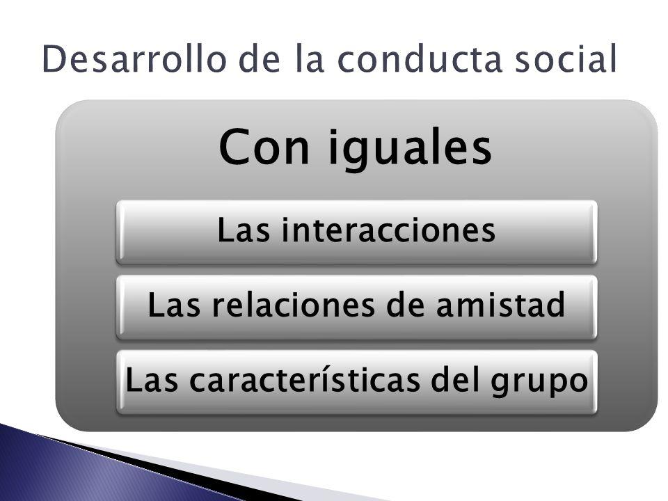 Desarrollo de la conducta social