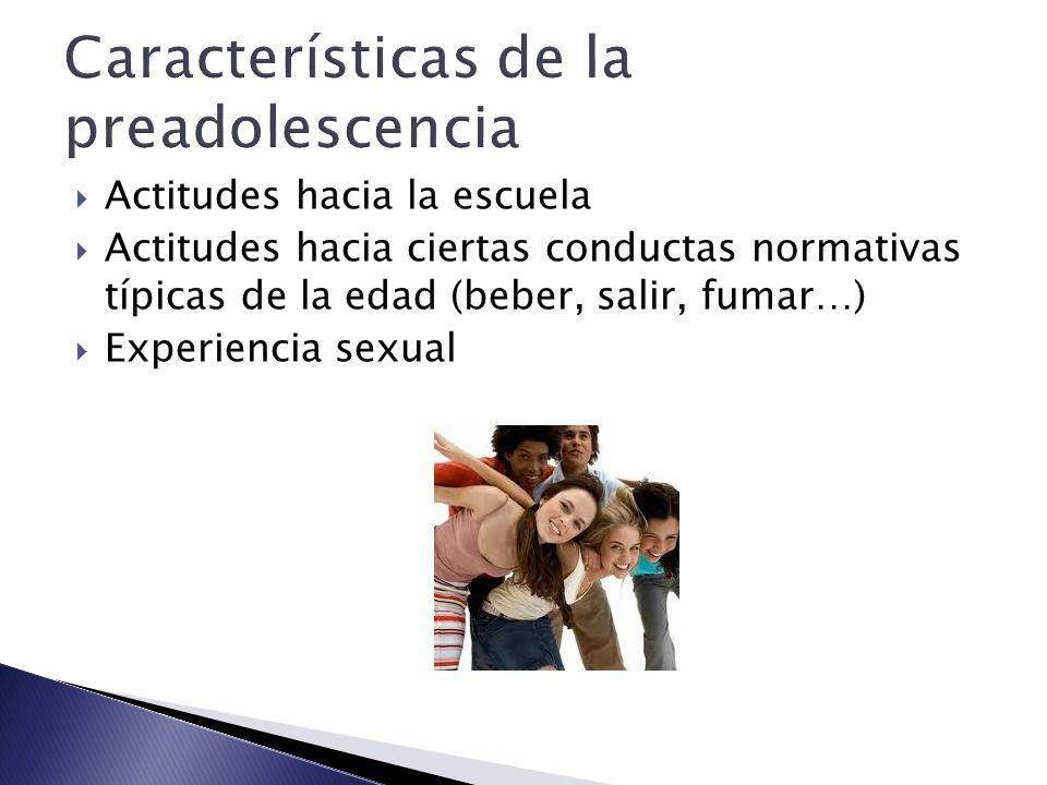 Características de la preadolescencia