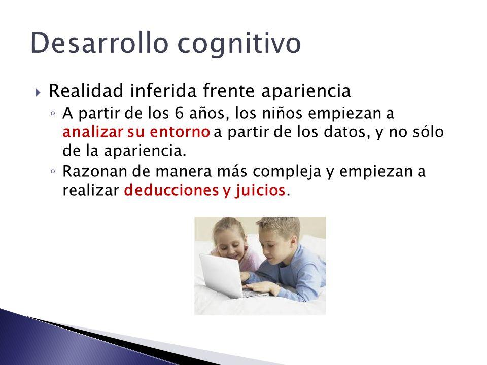 Desarrollo cognitivo Realidad inferida frente apariencia