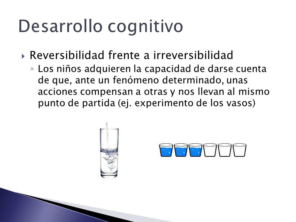 Desarrollo cognitivo Reversibilidad frente a irreversibilidad