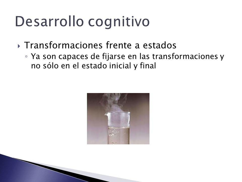 Desarrollo cognitivo Transformaciones frente a estados