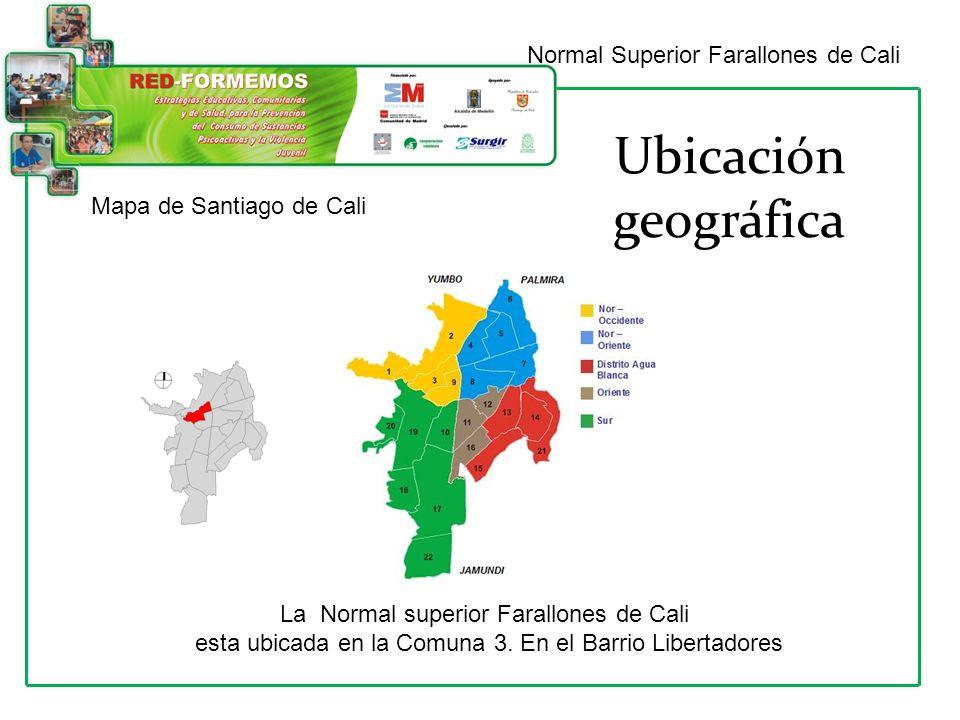 Ubicación geográfica Normal Superior Farallones de Cali