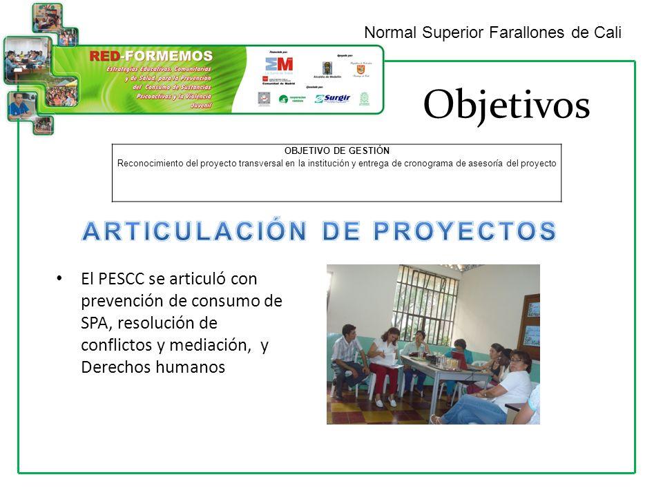 ARTICULACIÓN DE PROYECTOS