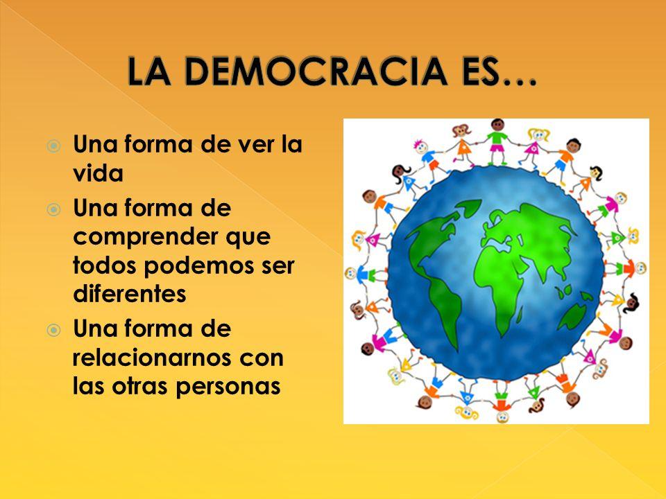 LA DEMOCRACIA ES… Una forma de ver la vida