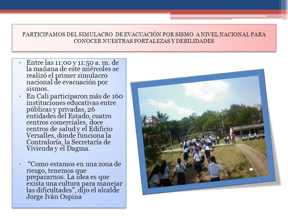 PARTICIPAMOS DEL SIMULACRO DE EVACUACIÓN POR SISMO A NIVEL NACIONAL PARA CONOCER NUESTRAS FORTALEZAS Y DEBILIDADES