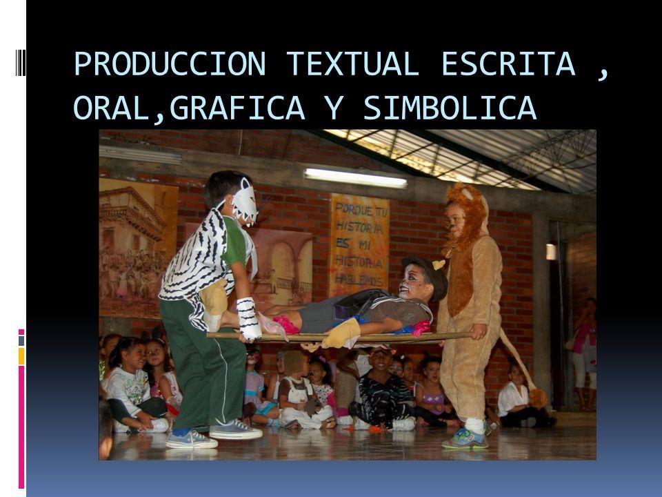 PRODUCCION TEXTUAL ESCRITA , ORAL,GRAFICA Y SIMBOLICA