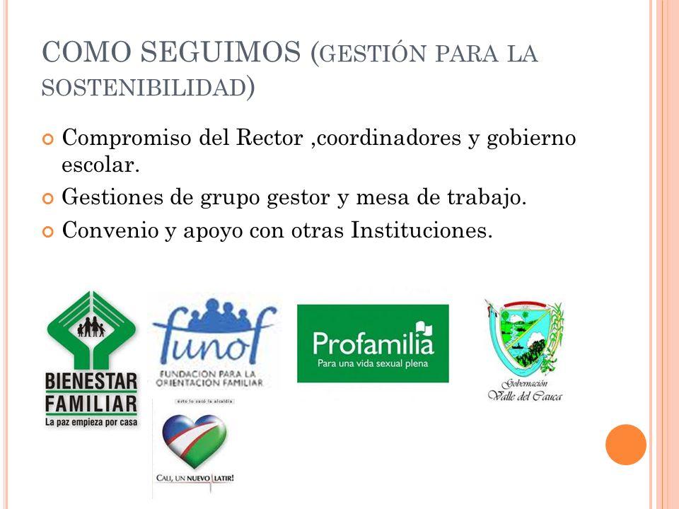 COMO SEGUIMOS (gestión para la sostenibilidad)