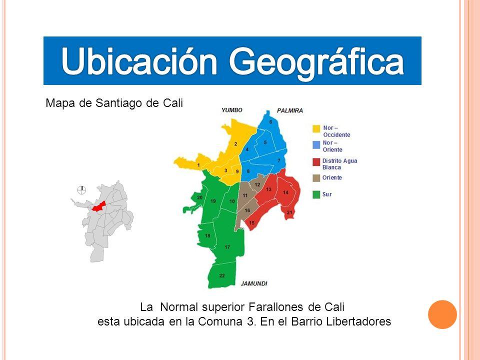 Ubicación Geográfica Mapa de Santiago de Cali