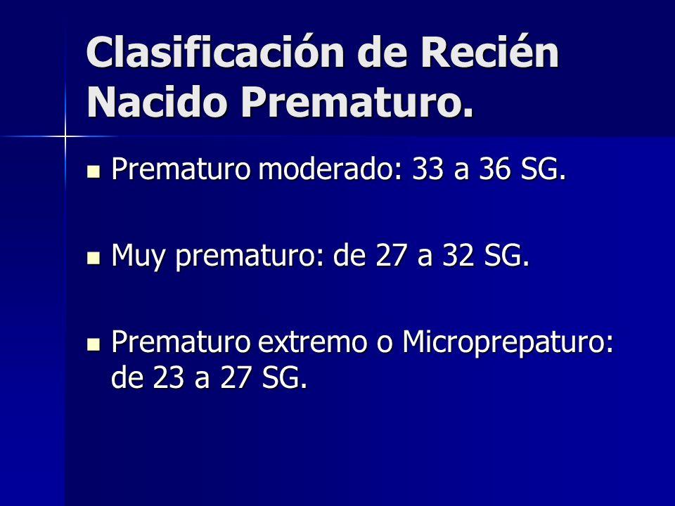 Clasificación de Recién Nacido Prematuro.