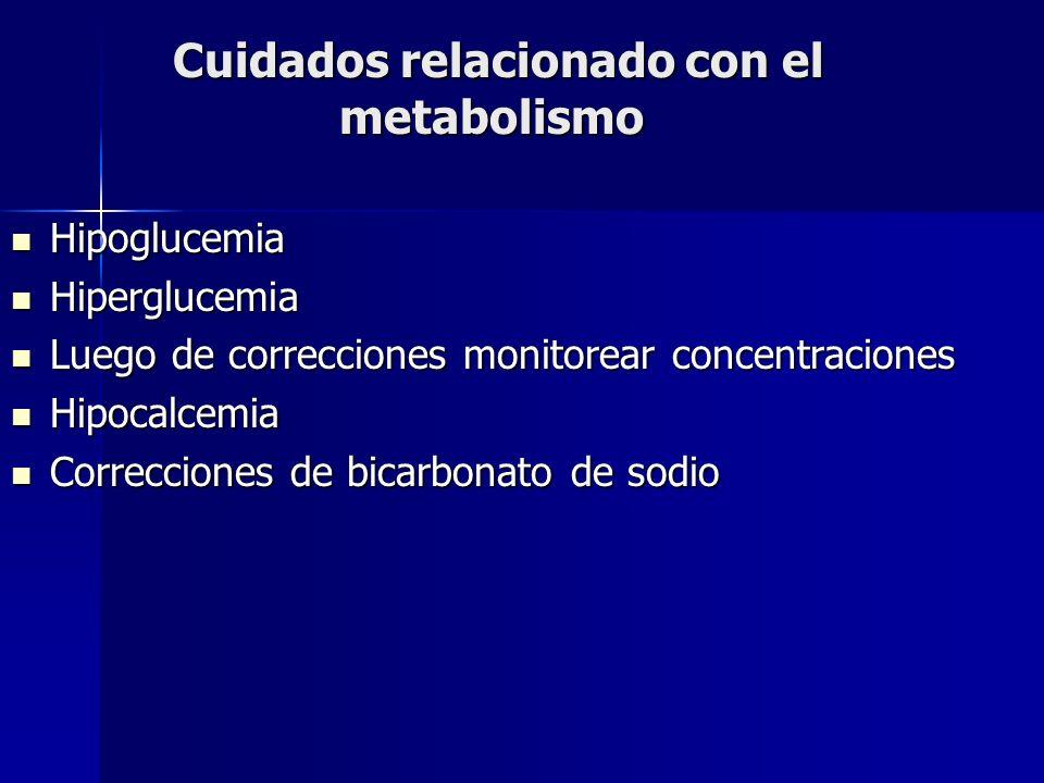Cuidados relacionado con el metabolismo