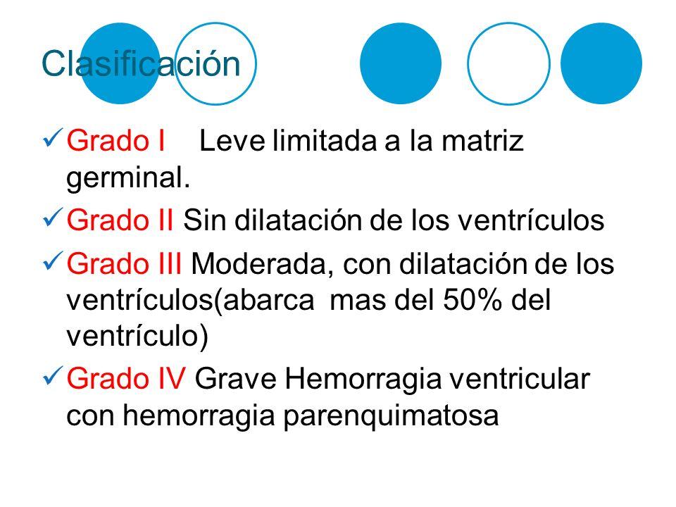 Clasificación Grado I Leve limitada a la matriz germinal.