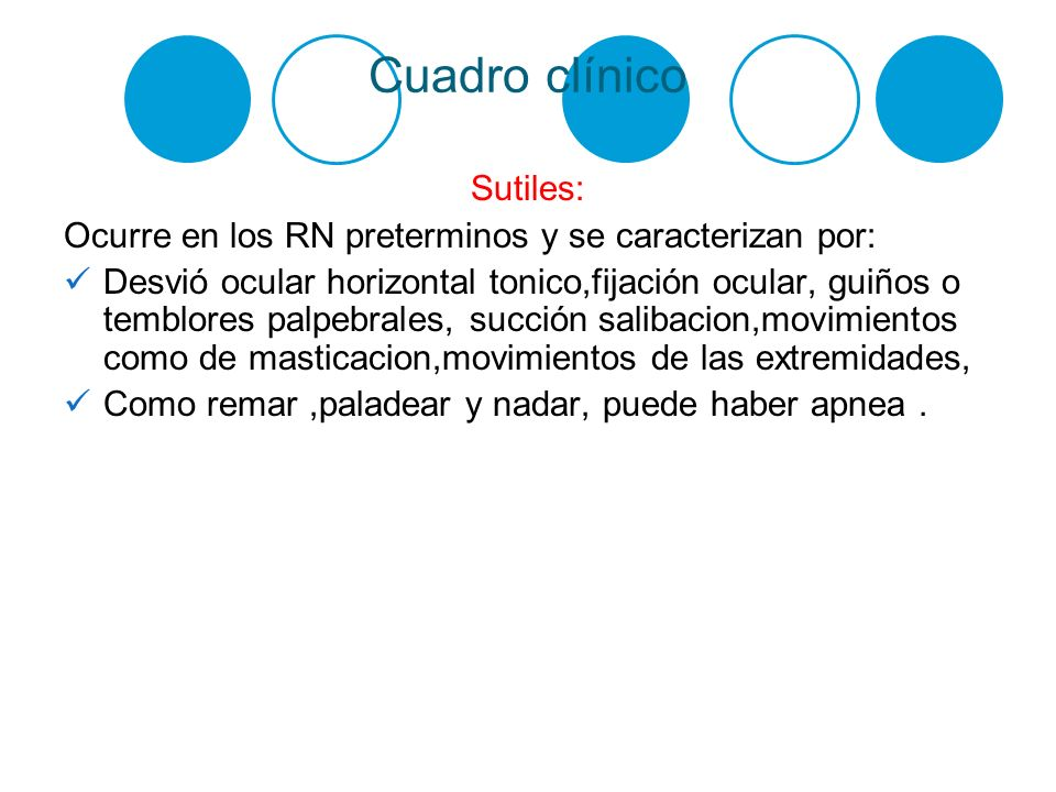 Cuadro clínico Sutiles: