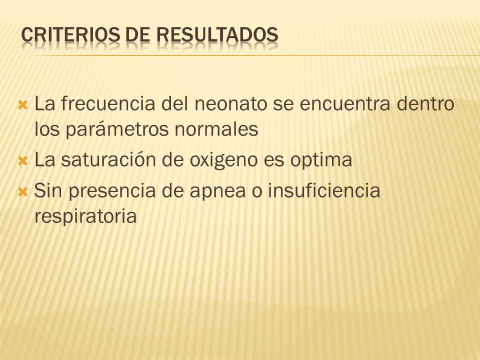 Criterios de resultados