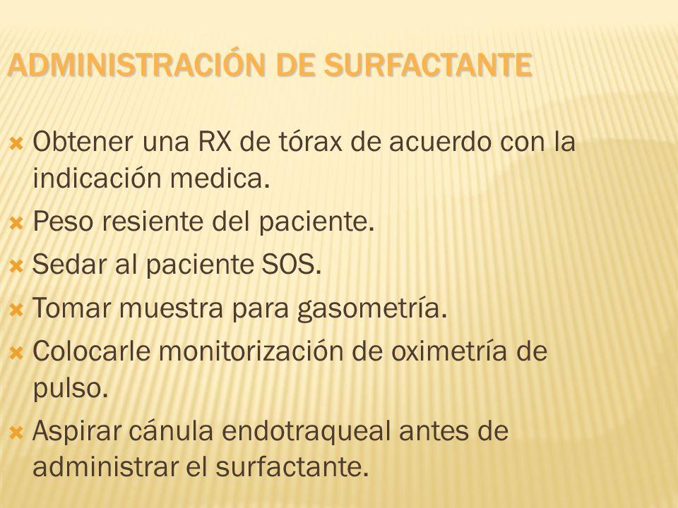 Administración de surfactante