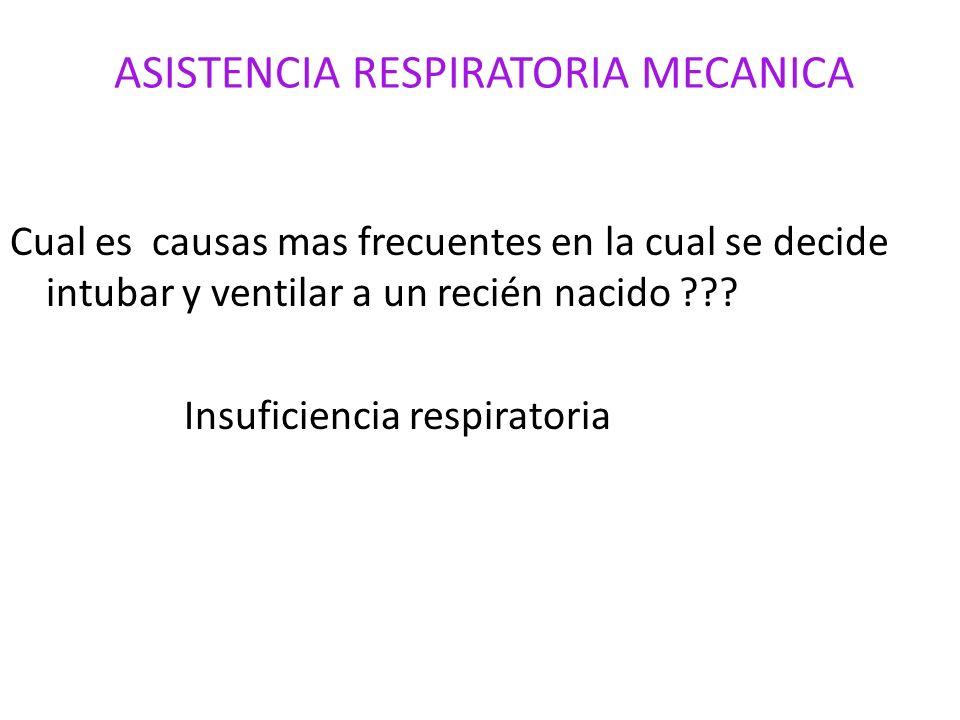 ASISTENCIA RESPIRATORIA MECANICA