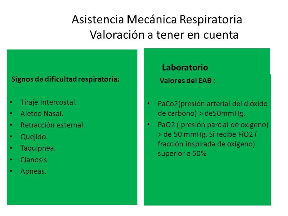 Asistencia Mecánica Respiratoria Valoración a tener en cuenta