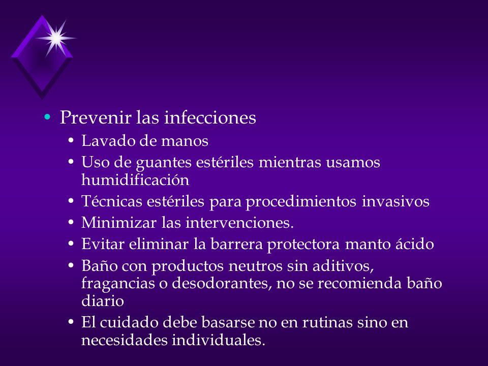 Prevenir las infecciones