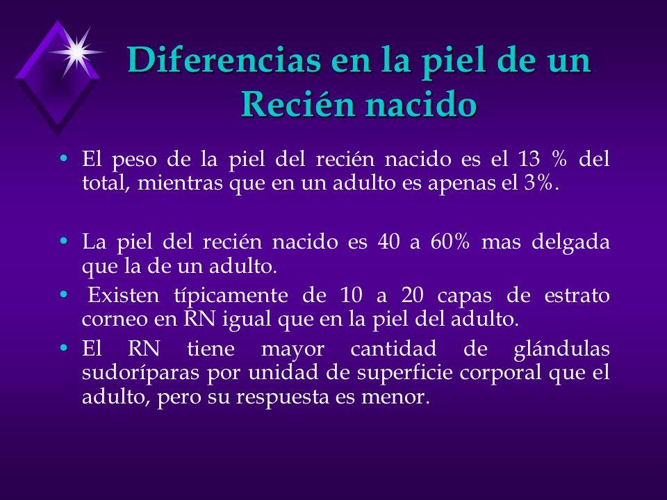 Diferencias en la piel de un Recién nacido