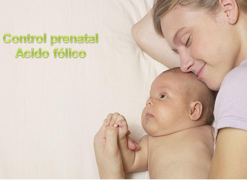 Control prenatal Acido fólico