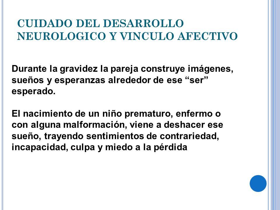 CUIDADO DEL DESARROLLO NEUROLOGICO Y VINCULO AFECTIVO